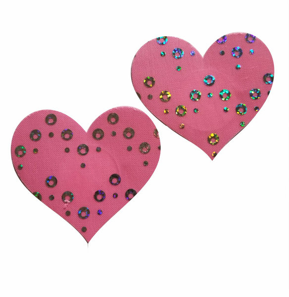 Embellished Heart Pink Diamond Glitter Pasties