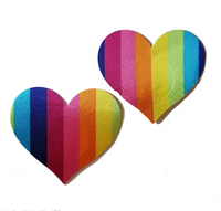 Rainbow Heart Pasties