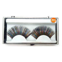 Sheer Swim Black Rainbow False Eyelashes Long Thick Drag Queen Falsies Eye Lashes Extensions for Costume Cosplay Stage Makeup