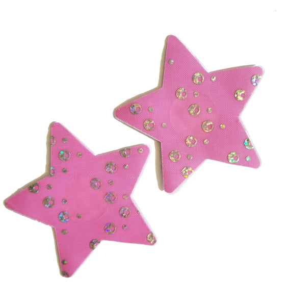 Embellished Star Pink Diamond Glitter Pasties