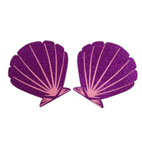 Pasties Purple Shell Shimmering Sheer Swim