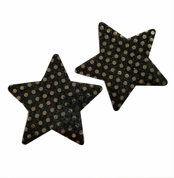 Embellished Star Black Pasties