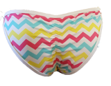 White Stripe Bikini Bottoms Tie Sides Sheerswim