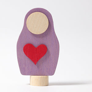 Decoration Matryoshka Purple