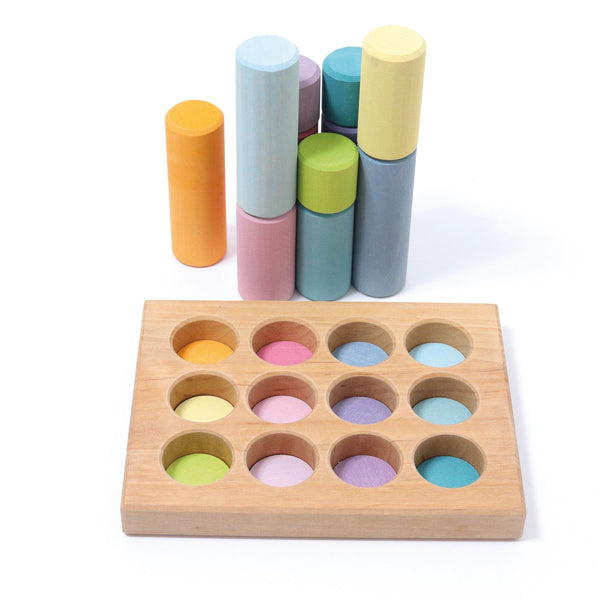 Stacking Game Small Rollers Pastel