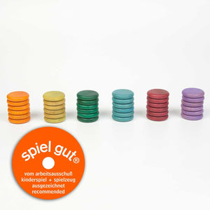 Coins Set of 36 in 6 Non Basic Colours