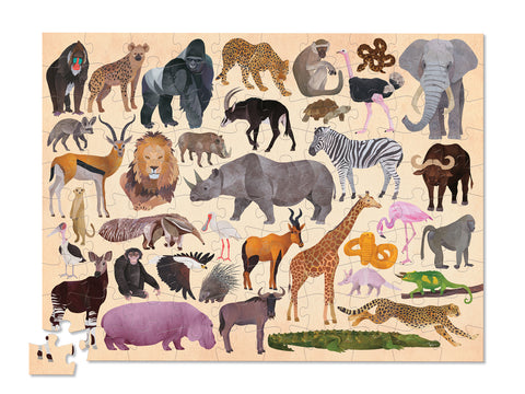36 Animal Puzzle 100 pc - Wild Animals