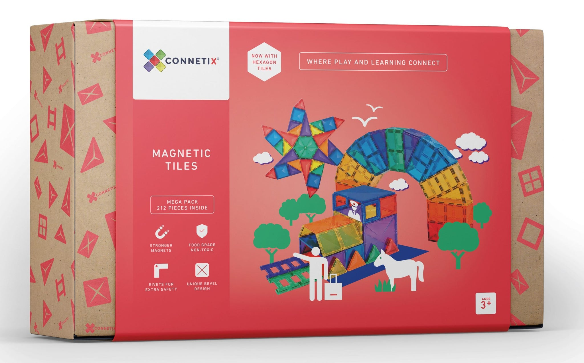 NEW Connetix 212 Tile Mega Pack