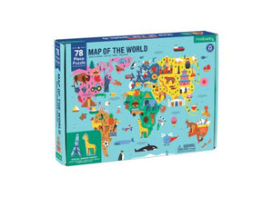78 Pc Geography Puzzle Map of the World