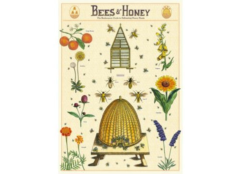 Vintage Style Poster Bees & Honey