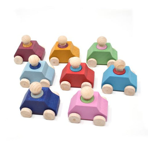 Car Pack of 8 with 8 Figures