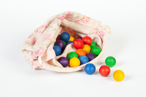 Coloured Wooden Marbles