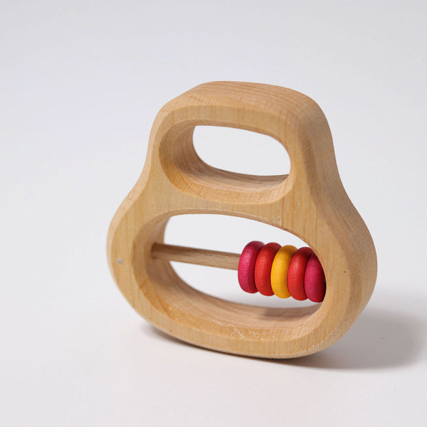 Rattle with 5 Small Ring Red