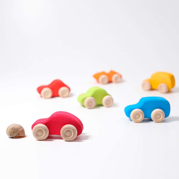 Small Cars Coloured Set of 6