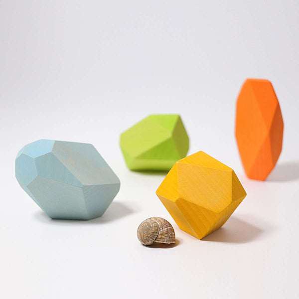 Wooden Gems Coloured