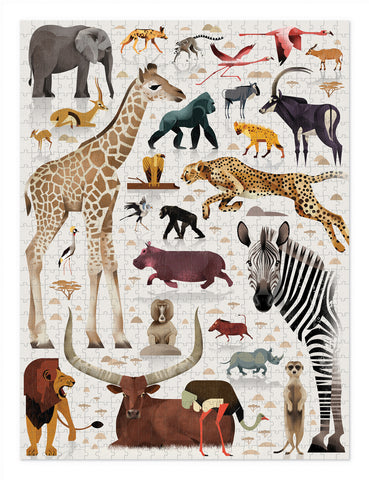 World of Puzzle 750 pc - African Animals