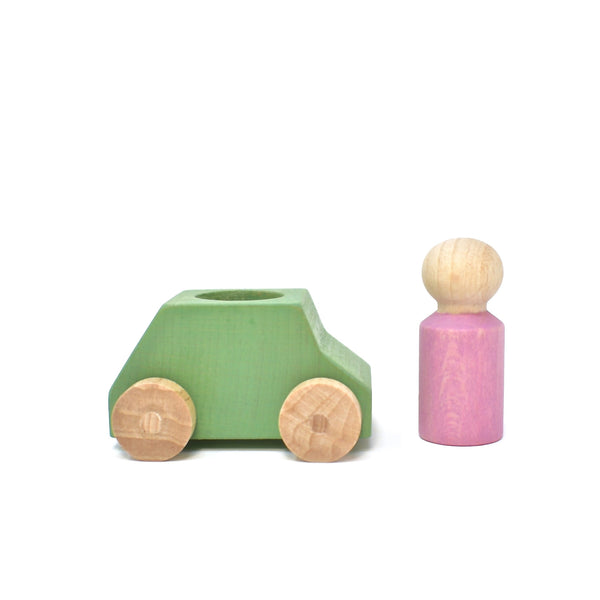 Car Mint with Pink Figure
