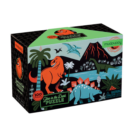 100 pc Glow in the Dark Puzzle Dinosaur