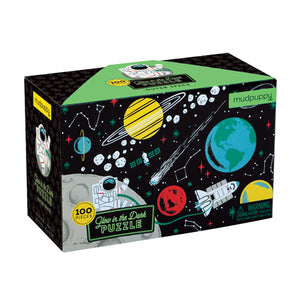 100 pc Glow in the Dark Puzzle Space