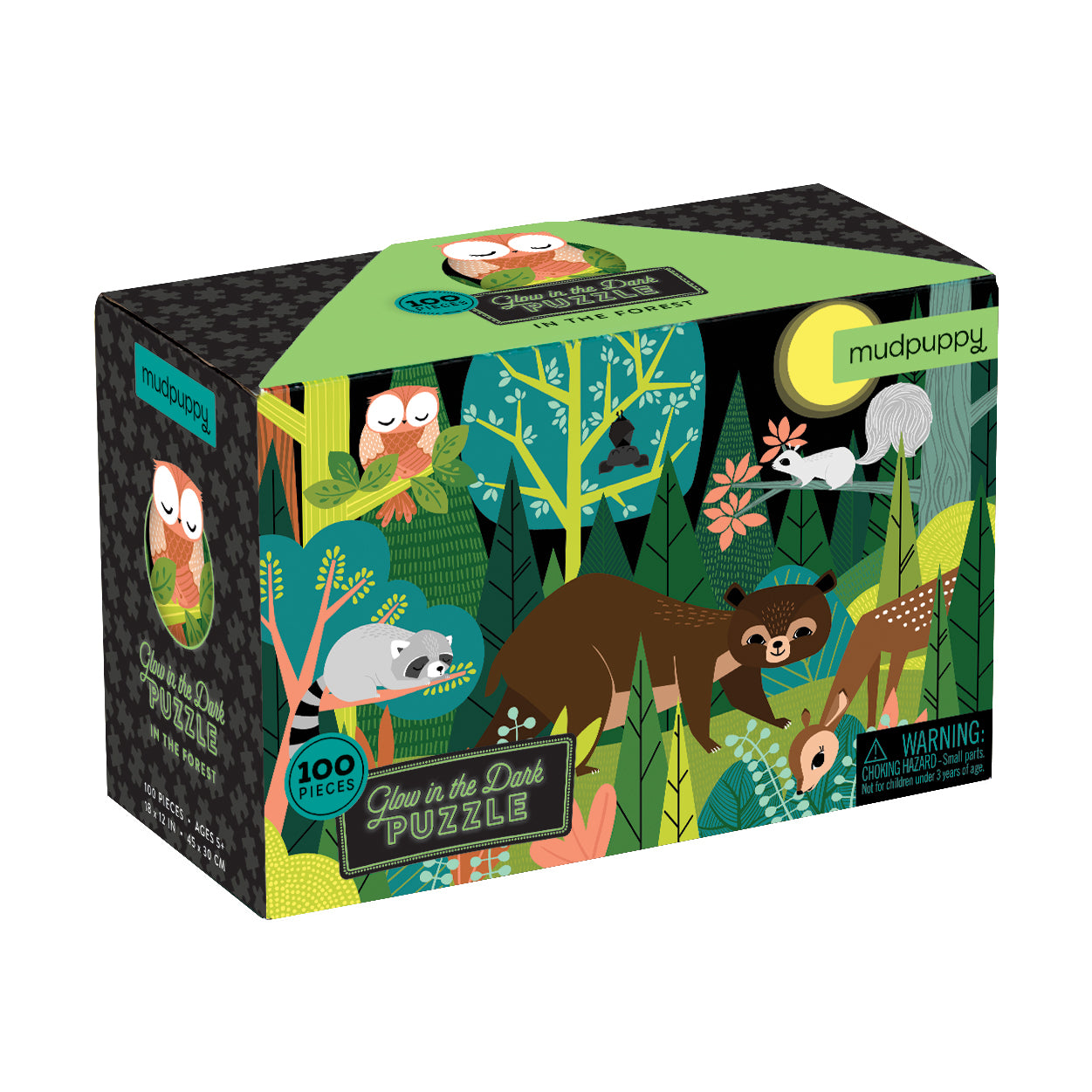 100 pc Glow in the Dark Puzzle Forest