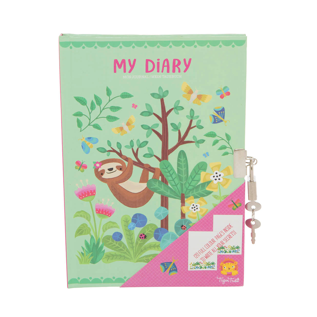 Lockable Diary - Tropical Sloth