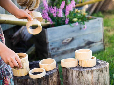 Natural Bamboo Building & Rolling Rings