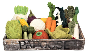 Crated Felt Vegetable Set