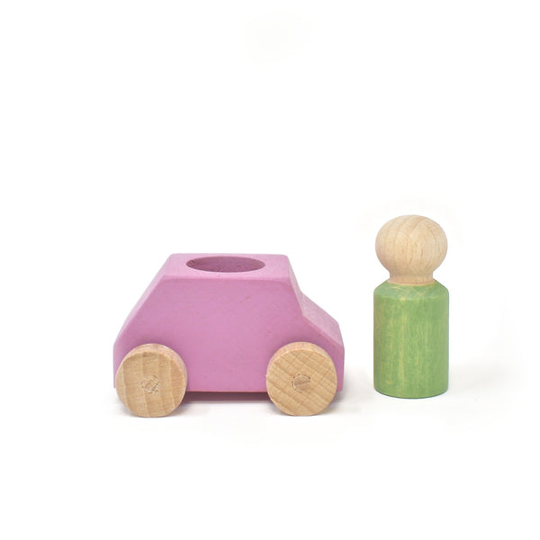 Car Pink with Mint Figure