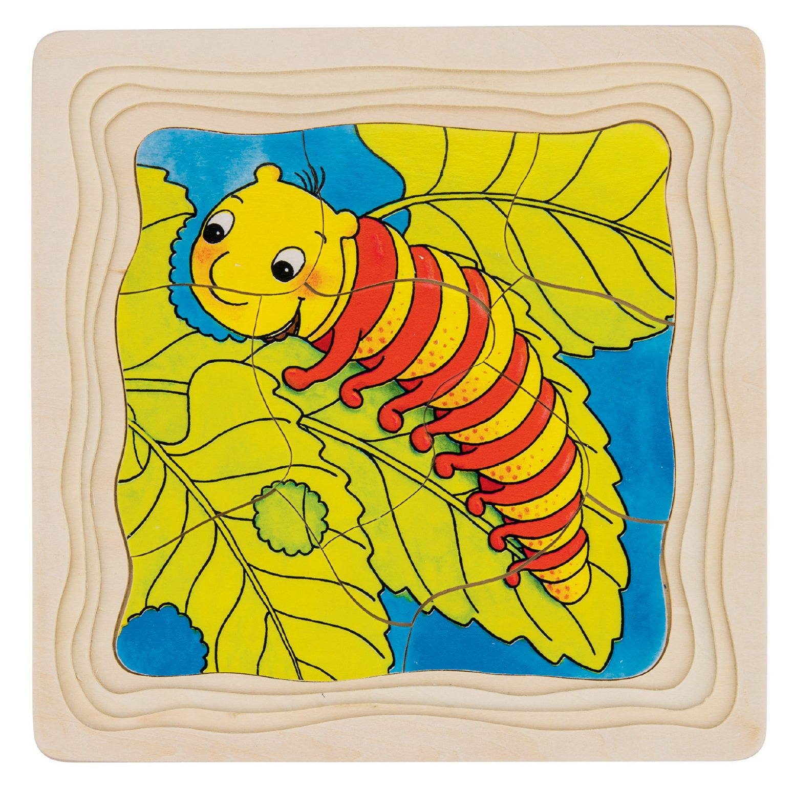 Caterpillar Lifecycle 4 Layer Puzzle