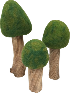 Felt Trees Summer - Set of 3