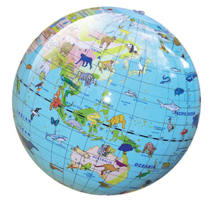 tiger tribe animal world globe 30cm