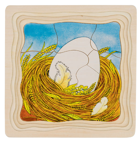 Chicken Egg Lifecycle 4 Layer Puzzle