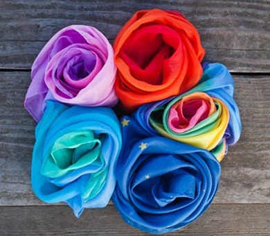 Playsilks - Enchanted Fire, Sea, Rainbow, Blossom