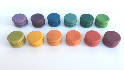 36 x Coins in 12 Colours