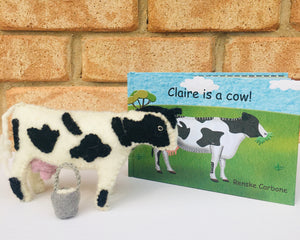 Claire is A Cow Book & Toy Set