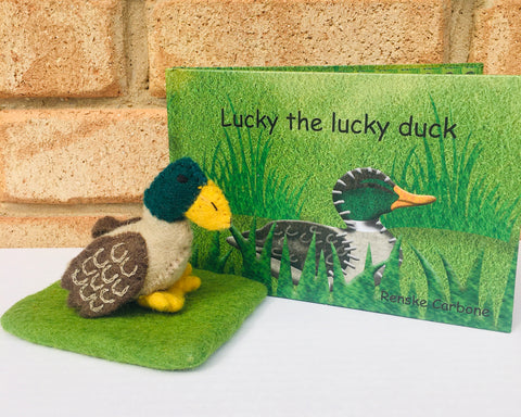 Lucky the Lucky Duck Book & Toy Set