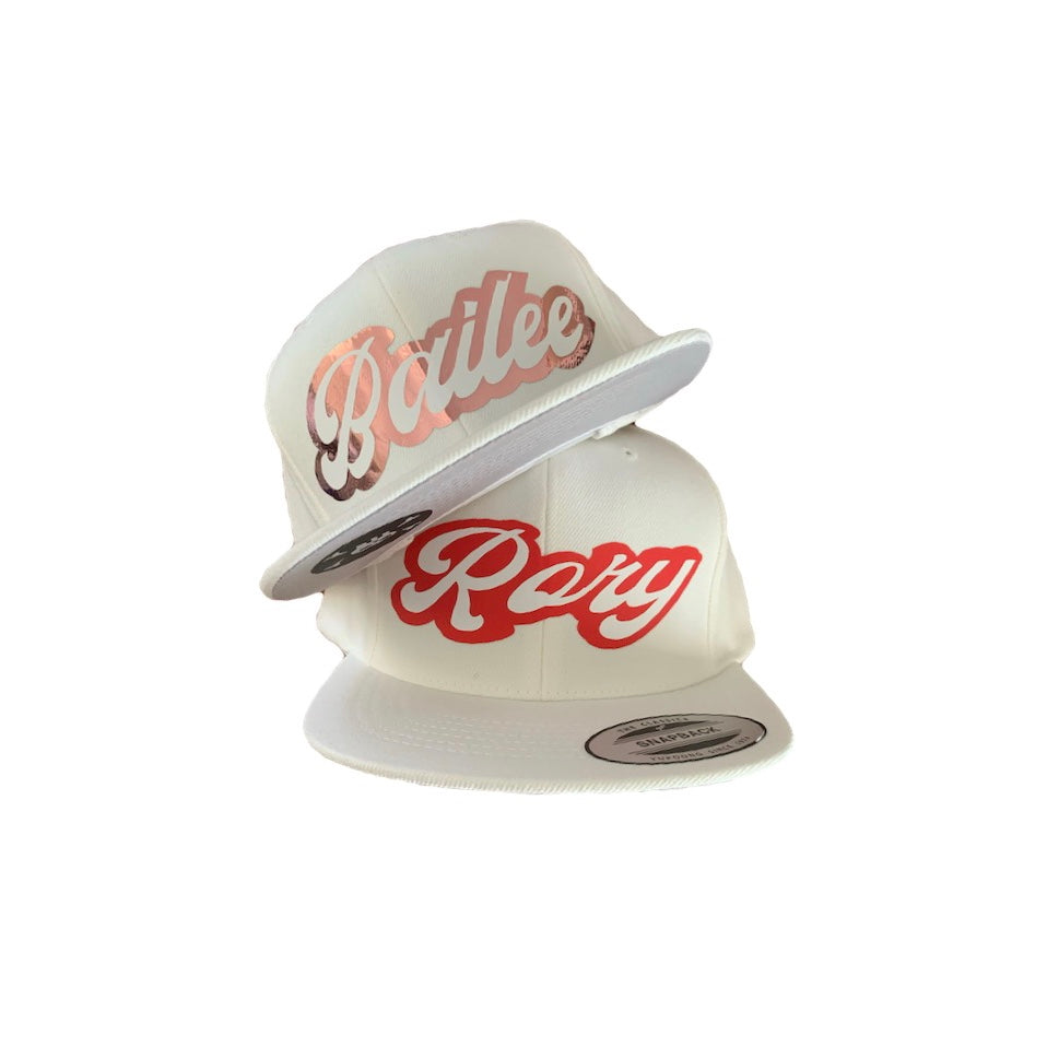 White Snapback - Personalised
