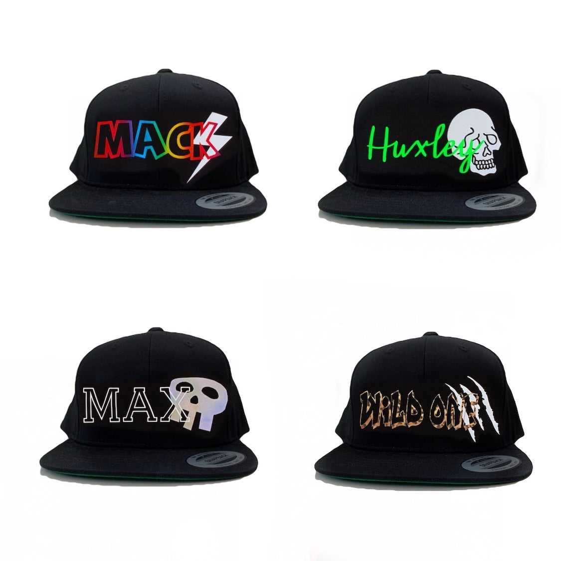 WHITE YOUTH Snapbacks - Personalised with Design