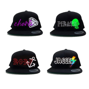 RLP YOUTH colour brim Snapbacks - Personalised with Design