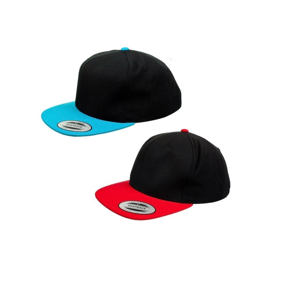 RLP Toddler & Adults colour brim Snapbacks - Personalised with Design