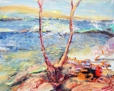 Original Painting-Travel Hawaii / Forked Tree 24 x 30 - DavidDelany.com