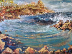 Original Painting-Travel Hawaii / Surf - DavidDelany.com