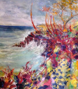 Original Painting-Travel Hawaii / Splash 32 x 28 - DavidDelany.com