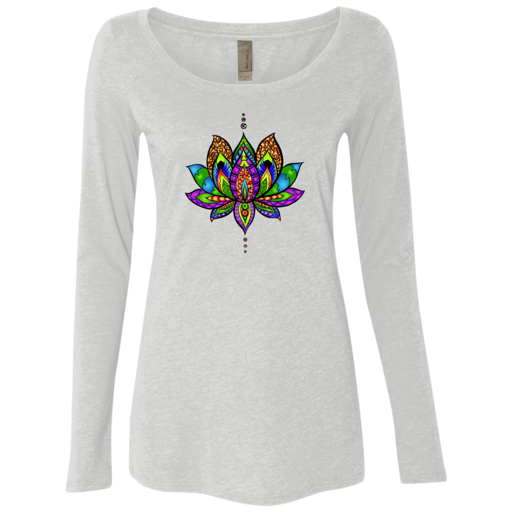 Yogi Lotus Next Level Ladies' Triblend LS Scoop