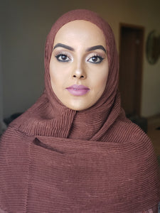ZZ Crinkle Hijab - Brown - ZIZI Boutique