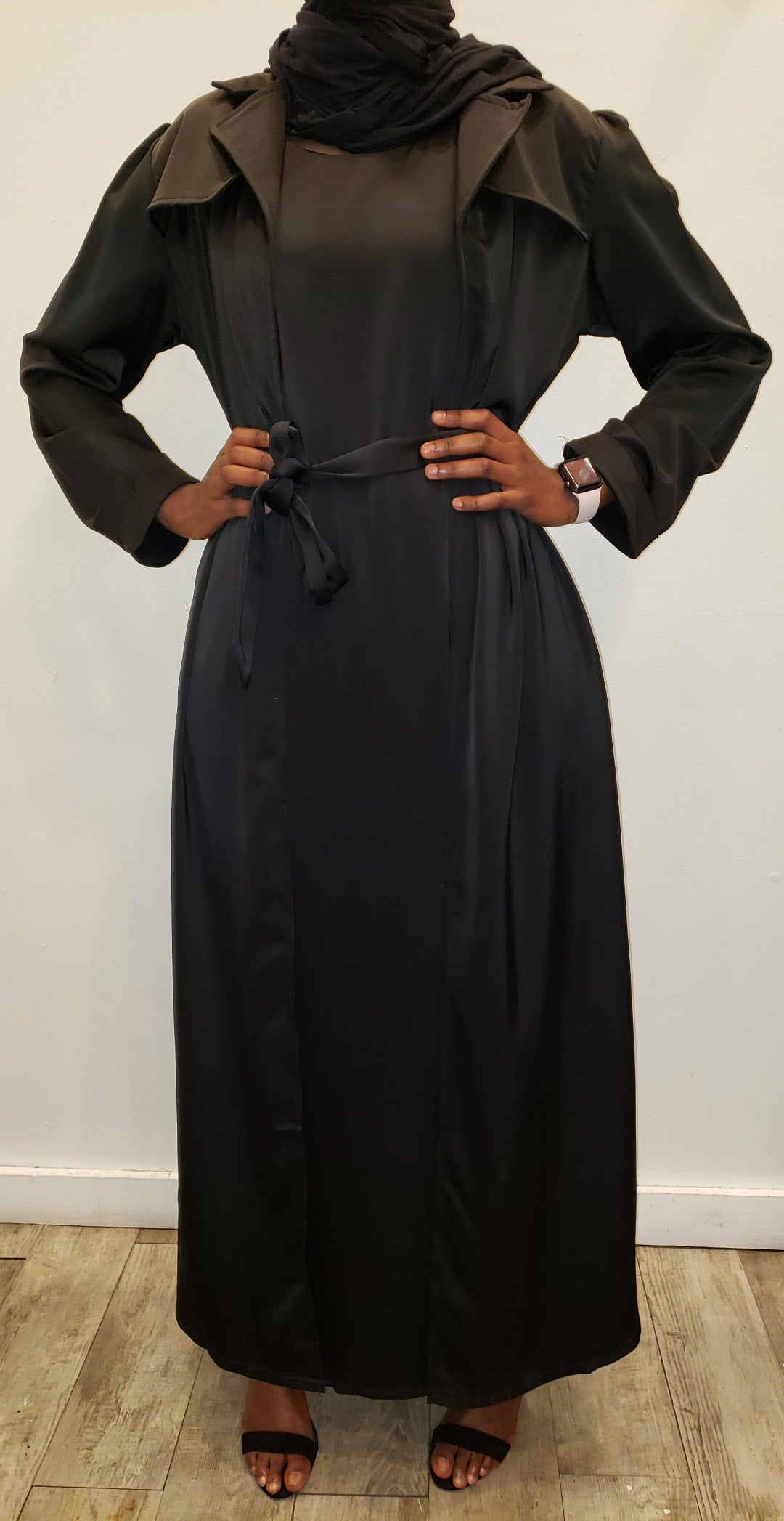 Queen Silk Blazer + Dress Set -  Black