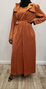 Queen Silk Blazer + Dress Set -  Burnt Orange - ZIZI Boutique
