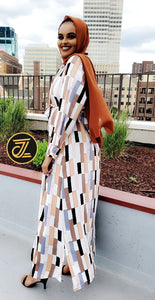 Multi blocks Dress Shirt (Maxi) - ZIZI Boutique