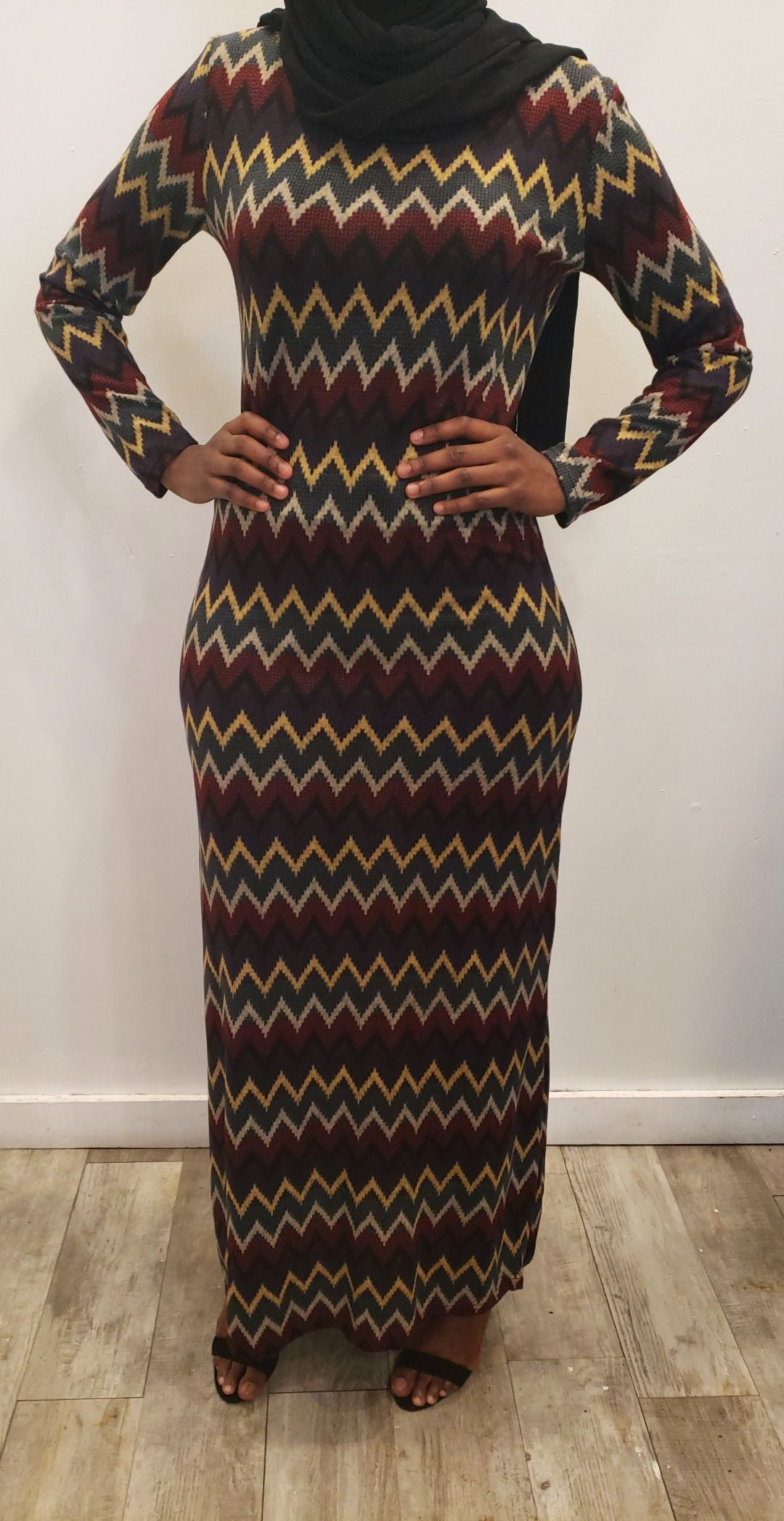 Winter Maxi Dress - ZigZag Bold - ZIZI Boutique