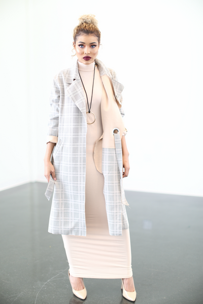 Cream Loop Trench Coat